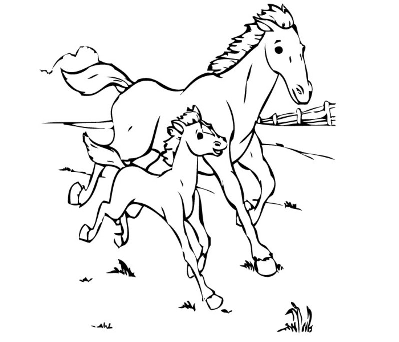 running horses coloring pages - photo#16